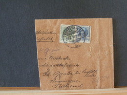 76/354  FRAGMENT DE LETTRE  DANMARK TIMBRES PERFORE  1907 - 1905-12 (Frederik VIII)