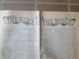 Journal The News Of The World - Londres 1 Octobre 1843 - Magazines & Newspapers