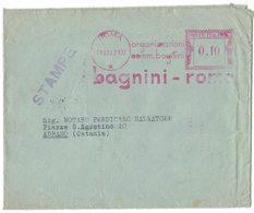 "NO110    Affrancatura Meccanica Rossa EMA Freistempel ""Organizzazione Bagnini - Roma"" 1942 - Affrancature Meccaniche Rosse (EMA)"