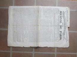 France Nouvelle - Nouveau Journal De Paris - 25 Juillet 1830 - Cachet Rouge Royal - Journaux - Quotidiens