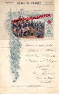 86- POITIERS- BEAU MENU HOTEL DE FRANCE-ROBLIN BOUCHARDEAU PROPRIETAIRE-VUE BENEDICTINE ABBAYE DE FECAMP- - Menus