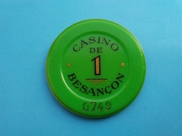 Jeton Casino De Besançon   1 F - Casino