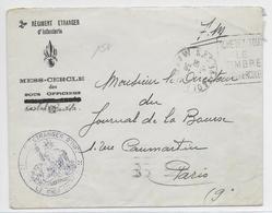 MAROC - 1936 - ENVELOPPE FM DECOREE Du  2° REI - LEGION ETRANGERE à KASBA TADLA => CPARIS - Marcophilie (Lettres)