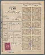 28397 Türkei - Besonderheiten: 1900-20, Documents And Telegramme With Advertising And Revenues, Attractive - Turkey