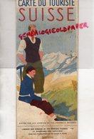 SUISSE - BEAU DEPLIANT TOURISTIQUE CARTE DU TOURISTE CHEMINS DE FER FEDERAUX BERNE-1935 -PARIS -TENNIS-GOLF-SKI- - Reiseprospekte