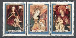 Penrhyn 1980 Yvert 133-35, Christmas, XVth Century Religious Art - Virgin Mary - MNH - Penrhyn