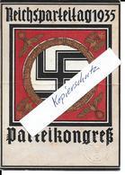 Propaganda Hitler Drittes Reich  Hakenkreuz Swastika Reichsparteitag Nürnberg, Propagandakarte - Weltkrieg 1939-45
