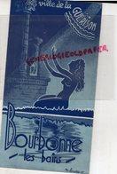 52- BOURBONNE LES BAINS- BEAU DEPLIANT TOURISTIQUE -ILLUSTRATEUR M. LEMAITRE 1949- LA VILLE DE LA GUERISON - Tourism Brochures