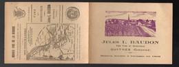 Guitres (33 Gironde ) Calendrier 1944 + Carte JULES BAUDON (vins) + Carte Vinicole Gironde (PPP12420) - Calendars