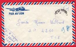 -- PAR AVION - LETTRE EN F.M. Du TONKIN  Vers SAÏGON - S.P 4.210 - T.O.E. -- - Marcophilie (Lettres)