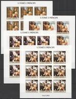 W720 IMPERFORATE 2004 S.TOME E PRINCIPE ART NATAL 2004 JOHN PAUL II !! 9SET MNH - Other