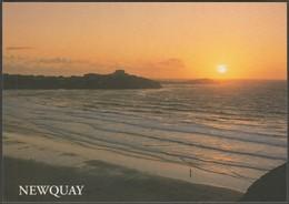 Sunset At Newquay, Cornwall, C.1990s - Salmon Postcard - Newquay