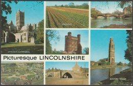 Multiview, Picturesque Lincolnshire, C.1970 - Salmon Postcard - England