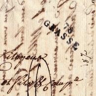 Lettre Avec Correspondance 1796 Grasse 23 Frimaire An V Alpes Maritimes Bateau Amérique Peyrolle Fils Aîné - Marcophilie (Lettres)