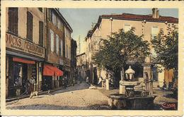 CPA - THUIR - La Place Et La Rue De La Mairie. - Altri Comuni