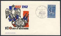 France Rep. Française 1967 Cover / Brief / Enveloppe -  Victor Emmanuel Railway (VER) To France In 1867 / Eisenbahn - Treinen