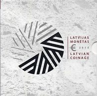 Lettonie 2015 : Coffret BU 9 Pièces (dont La 2€ Commémorative 'Présidence UE') - DISPONIBLE EN FRANCE - Lettonie