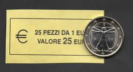 ITALIA  2017 - RARO  ROLL  1 EURO  ORIGINALE ZECCA - DATA VISIBILE - FDC - Rotolini