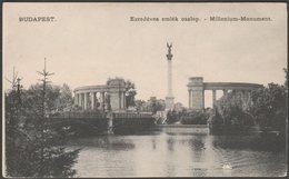 Ezredéves Emlék Oszlop, Budapest, C.1905 - U/B Levelezőlap - Hungary