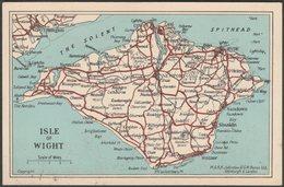 Map, Isle Of Wight, C.1910s - Johnston & Bacon Postcard - England