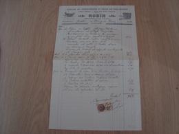 FACTURE ATELIER DE CHARRONNAGE ET FORGE ROBIN ORMOY-LA-RIVIERE 1932 - France