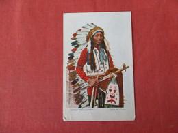 Chief Tall Crane  Glitter Added     Ref 2963 - Native Americans