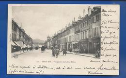 SAINT DIE    Perspective De La Rue Thiers         Animées   écrite En 1903 - Saint Die
