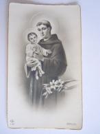 S. Antoine H. Antonius Image Pieuse Holy Card Santini Italy  GN F.127 - Devotion Images