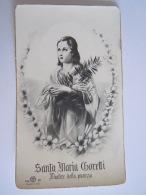 Santa Maria Goretti Image Pieuse Holy Card Santini Italy Dep - Devotion Images