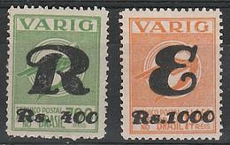 Varig, Registrado E Expresso - RHM V43-44 - 1934 - Unused - Airmail (Private Companies)