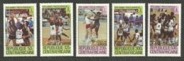 CENTRAL AFRICA 1980 SPORT OLYMPICS BASKETBALL WINNERS OVERPRINT SET MNH - Central African Republic
