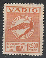 Varig 1500 Réis - RHM V50 - 1934 - Unused - Airmail (Private Companies)