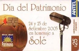 TARJETA TELEFONICA DE URUGUAY, 411a (205) CARLOS SOLE - Uruguay