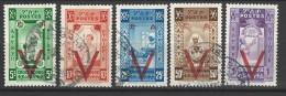 Etiopia - 1945 - Usato/used - Croce Rossa - Mi N. 217/21 - Etiopia
