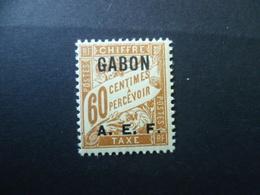 GABON  TIMBRE TAXE N°  8  NEUF ** - Gabon (1886-1936)