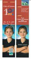"""Mp """" 2000 - LES COTES D'ARMOR Ont 10 Ans ! - Bookmarks"""
