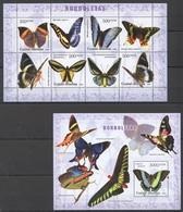 W881 2006 GUINE-BISSAU FAUNA BUTTERFLIES BORBOLETAS 1BL+1KB MNH - Papillons