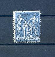 France - Type Sage N°90 - Oblitéré Carré De Points - Rare - (F076) - 1876-1898 Sage (Type II)