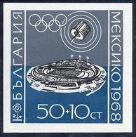 BULGARIA 1968 Olympic Games Block  MNH / **.  Michel Block 22 - Blocks & Sheetlets