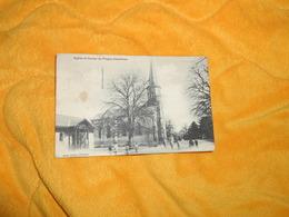 CARTE POSTALE ANCIENNE CIRCULEE DE 1913. / EGLISE ET ECOLES DE PREGNY-CHAMBESY. / CACHET + TIMBRE - GE Geneva