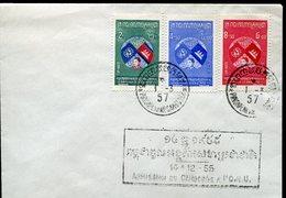 34075 Cambodge, Fdc 1957  UNO  ONU - Cambodia