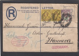 LETTRE RECOMMANDÉE POUR HANNOVRE. - Stamped Stationery, Airletters & Aerogrammes