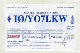 QSL CARD - AK 323677 Italy - Civitavecchia / Roma - Amateur Radio Station - Altri