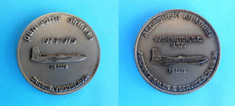 PAN ADRIA AIRLINES ( Ex Yugoslavian Small Airline ) : ALLEGHENY AIRLINES Washington D.C. USA FH 2278 - Vintage Medal RR - Aviation Commerciale