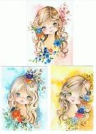 LOT DE 5 CARTES ENFANTS - Postcards