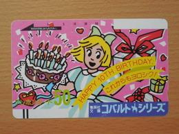 Japon Japan Free Front Bar, Balken Phonecard / 110-7993 / Happy Birthday - Japan