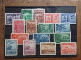 CINA Anni '40 - Lotticino 4 Serie Complete Timbrate + Spese Postali - 1912-1949 Repubblica