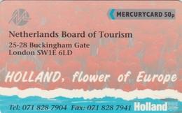 Mercury, MER172, Netherlands Board Of Tourism, Flowers, Mint, 2 Scans.  20MERA/SB - United Kingdom