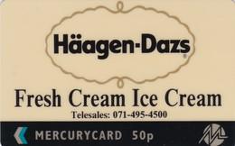Mercury, MER182, Haagen Dazs Ice Cream, 2 Scans.    20MERA - United Kingdom