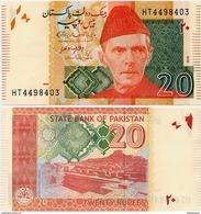 PAKISTAN       20 Rupees        P-55j        2016        UNC  [sign. Ashraf M. Wathra] - Pakistan